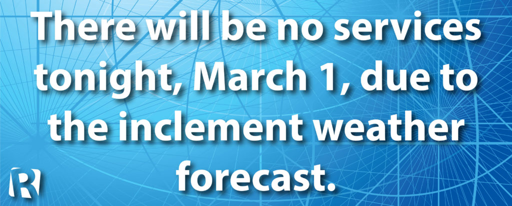 Inclement Weather March 1