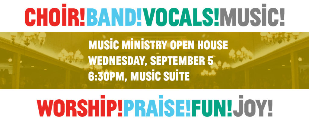 Music Ministry Open House